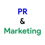 PR and marketing logo